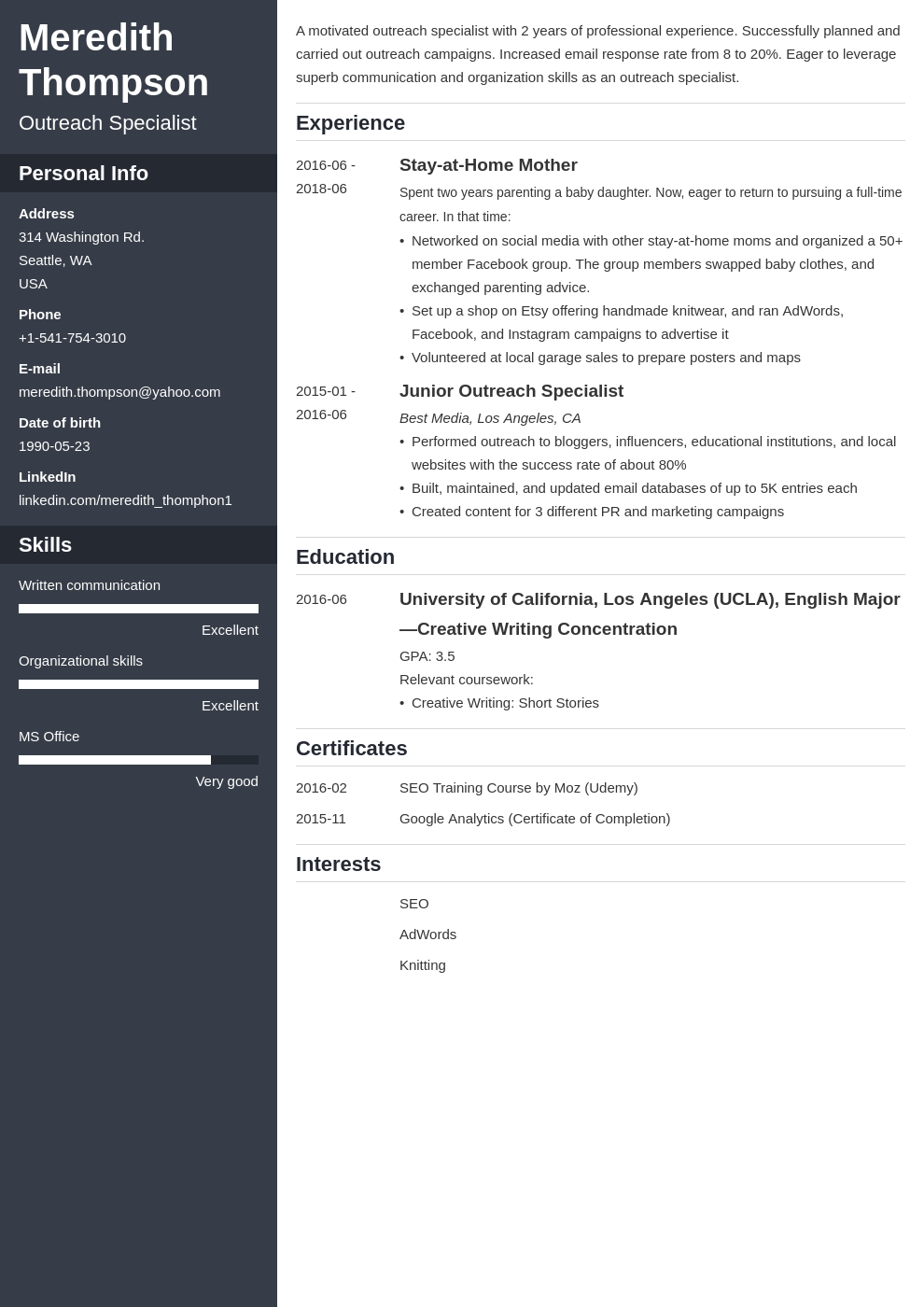 stay at home mom resume example template cascade