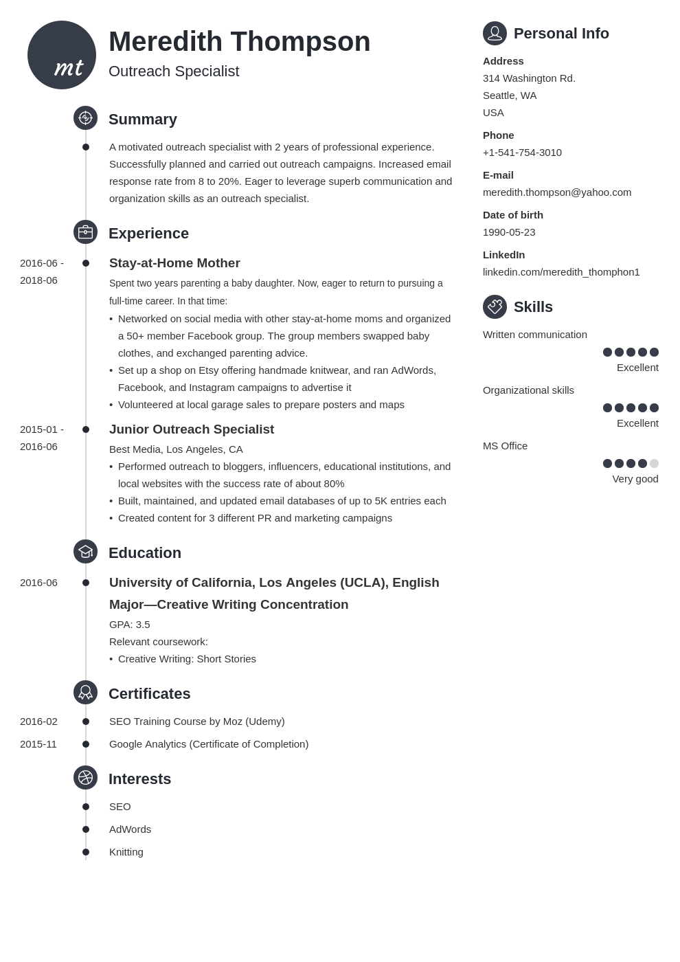 stay at home mom resume example template primo