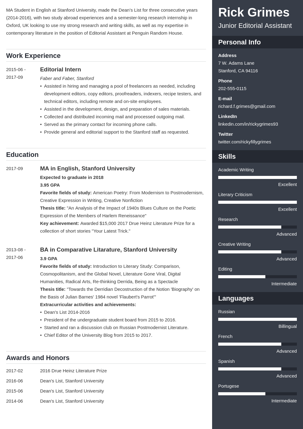 Student Resume Sample & Complete Writing Guide [with 20+ Examples]