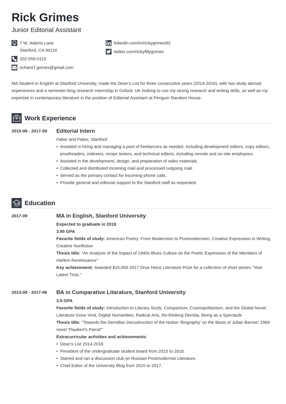 20+ Student Resume Examples (Template & Guide with Tips)