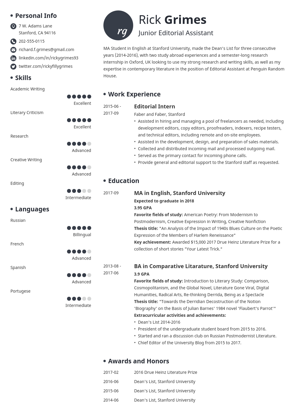 Student Resume Sample Complete Writing Guide With 20