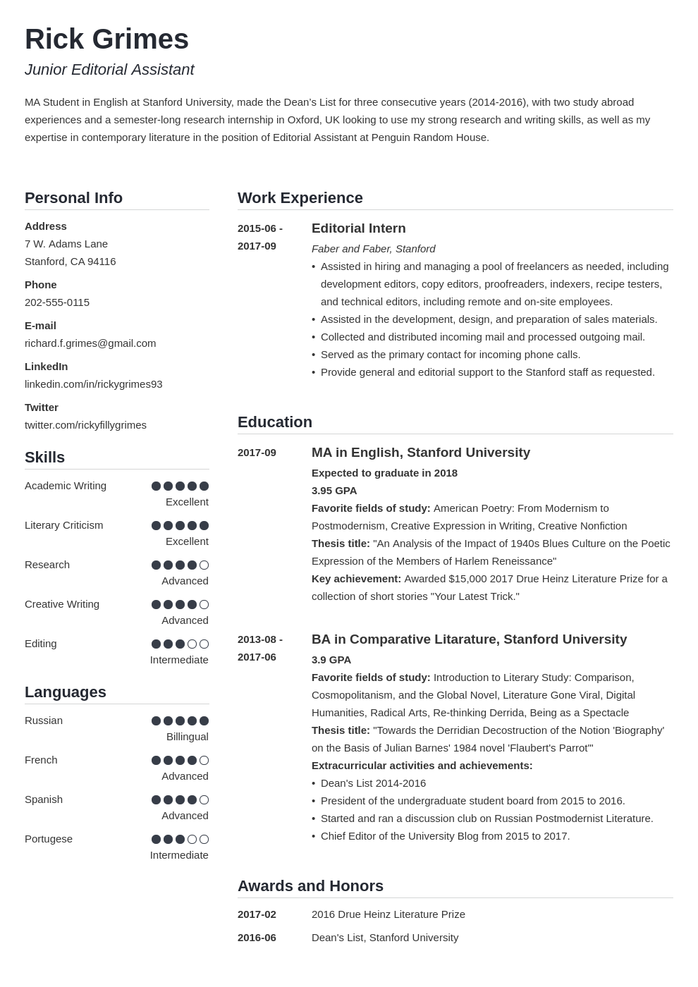 20 Student Resume Examples Templates For All Students
