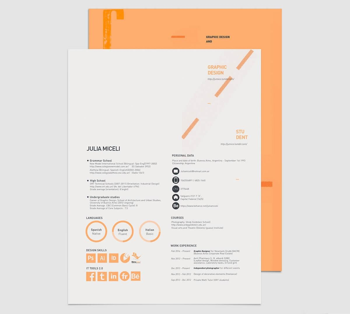 resume templates students