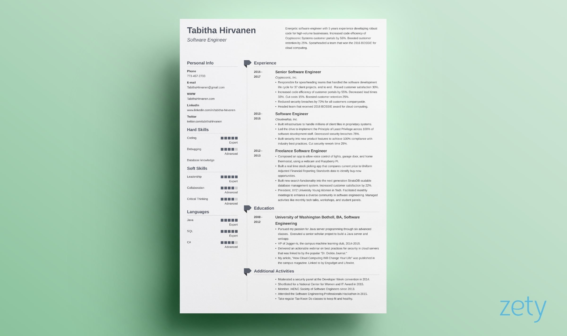 student resume  cv templates  15 examples to download  u0026 use now