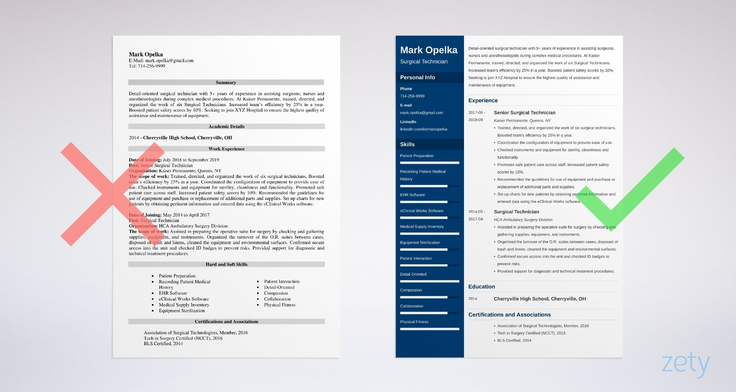 Surgical Technologist & Technician Resume Sample (25+ Tips)