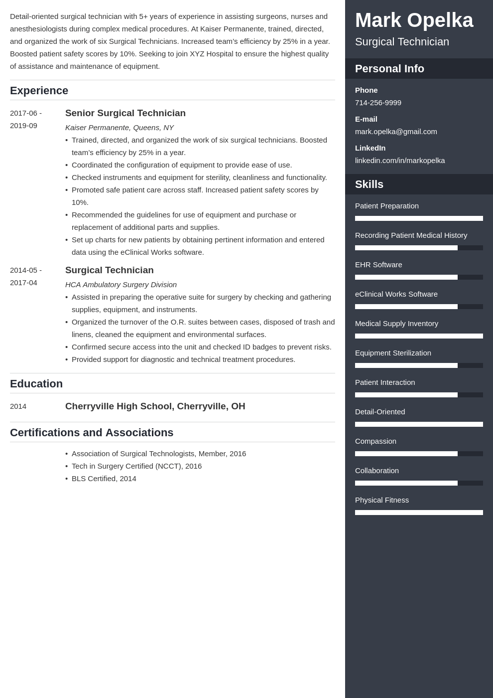 surgical tech resume example template enfold