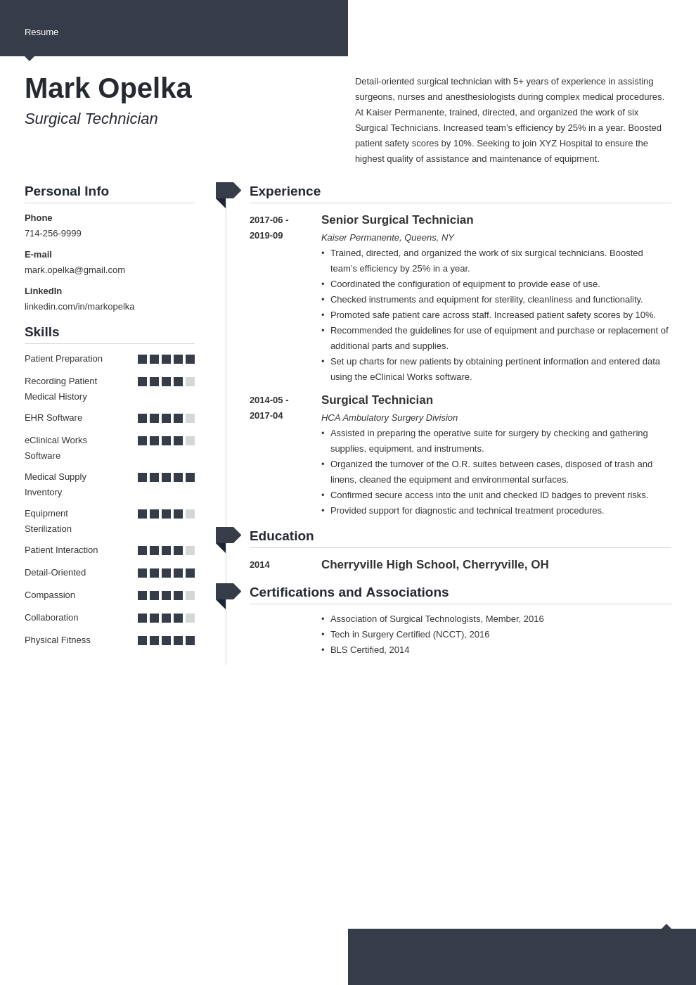 surgical tech resume example template modern