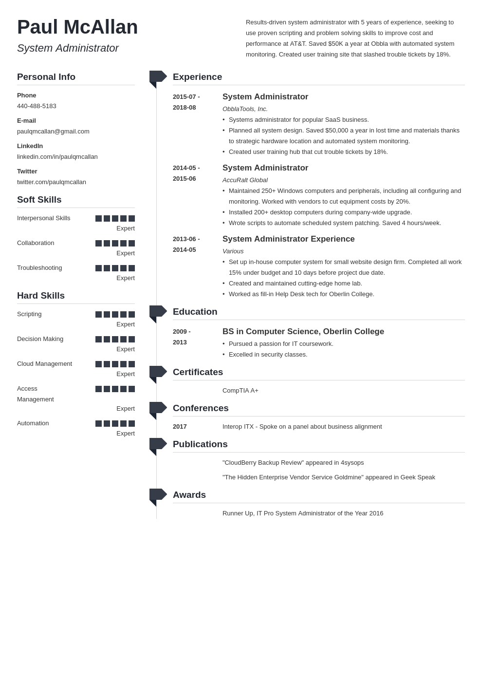 system administrator resume example template muse