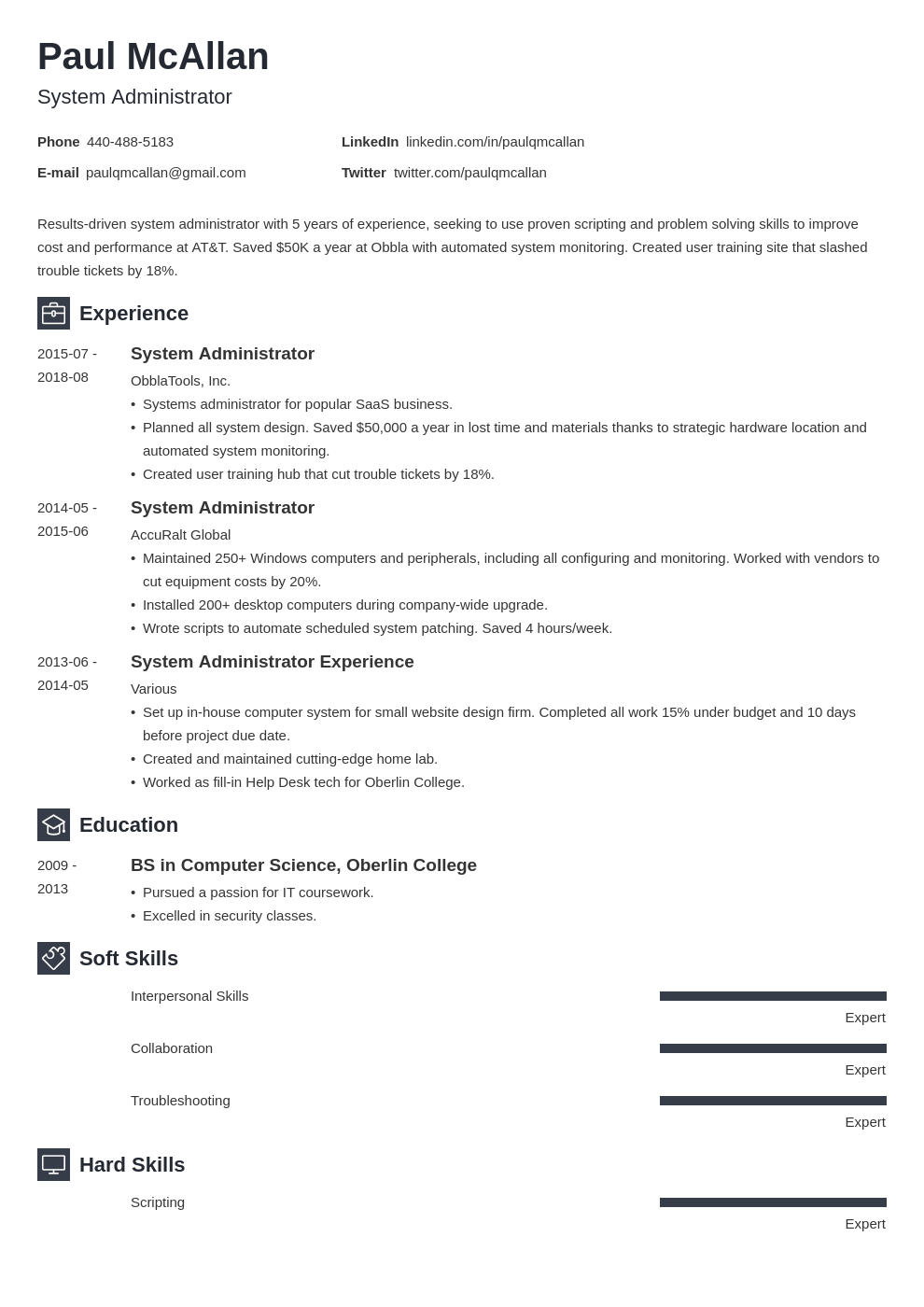 system administrator resume example template newcast