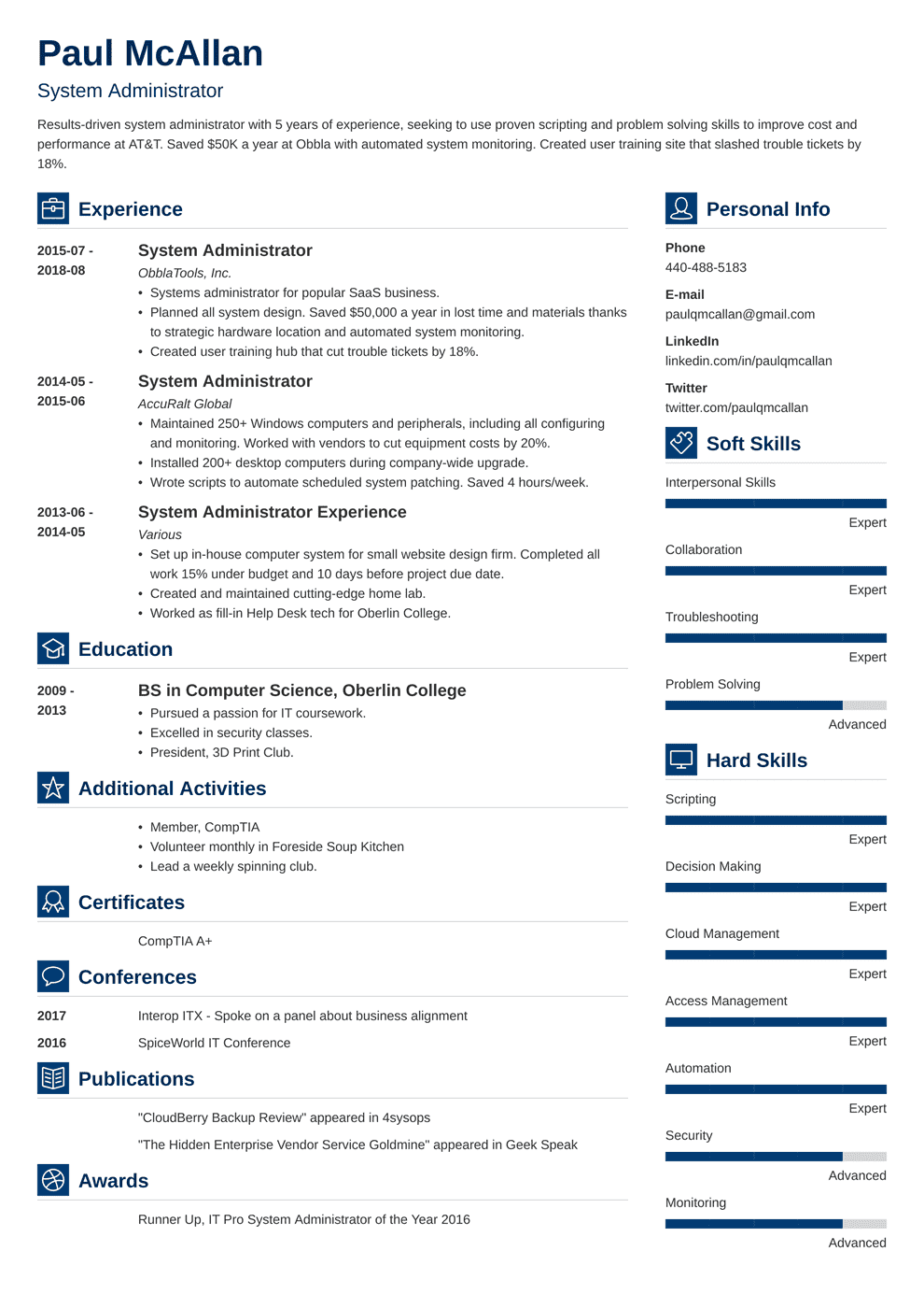 System Administrator Resume Sample And Writing Guide 20