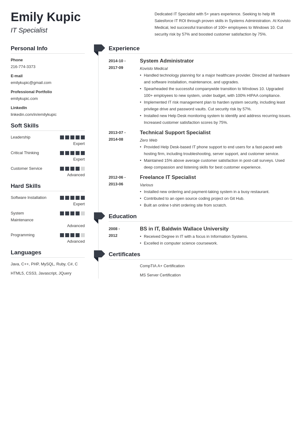 technical resume example template muse