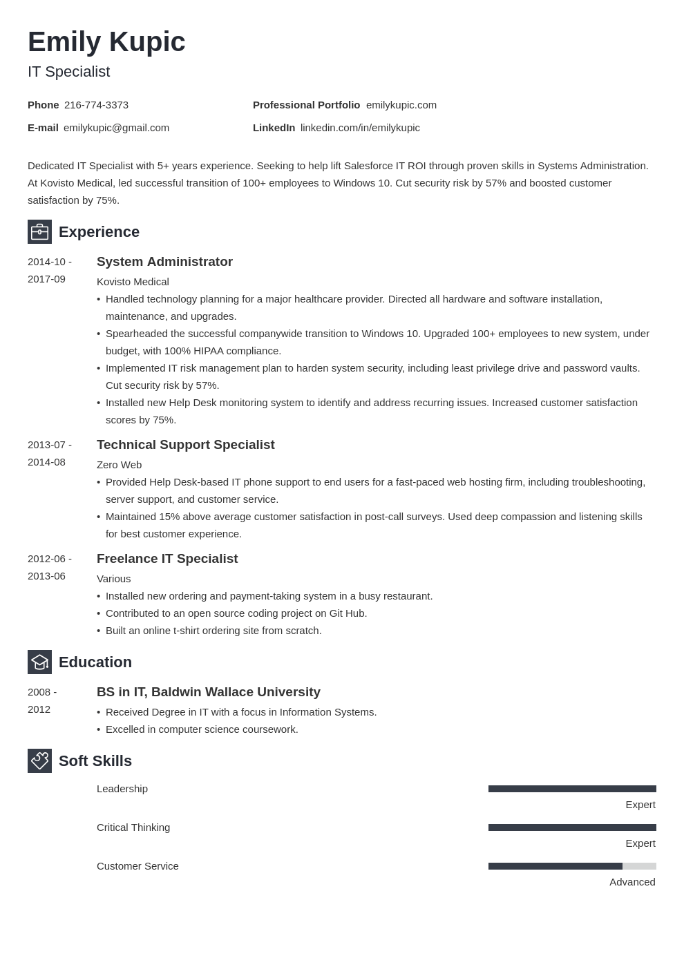 technical resume example template newcast