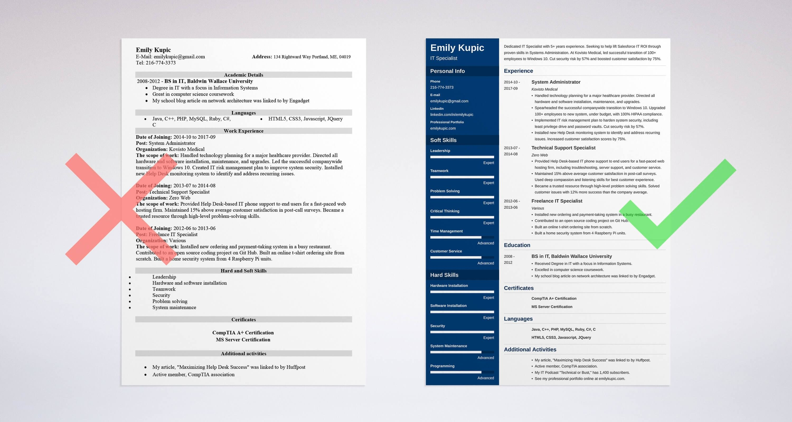 technical resume example - Sample It Resume