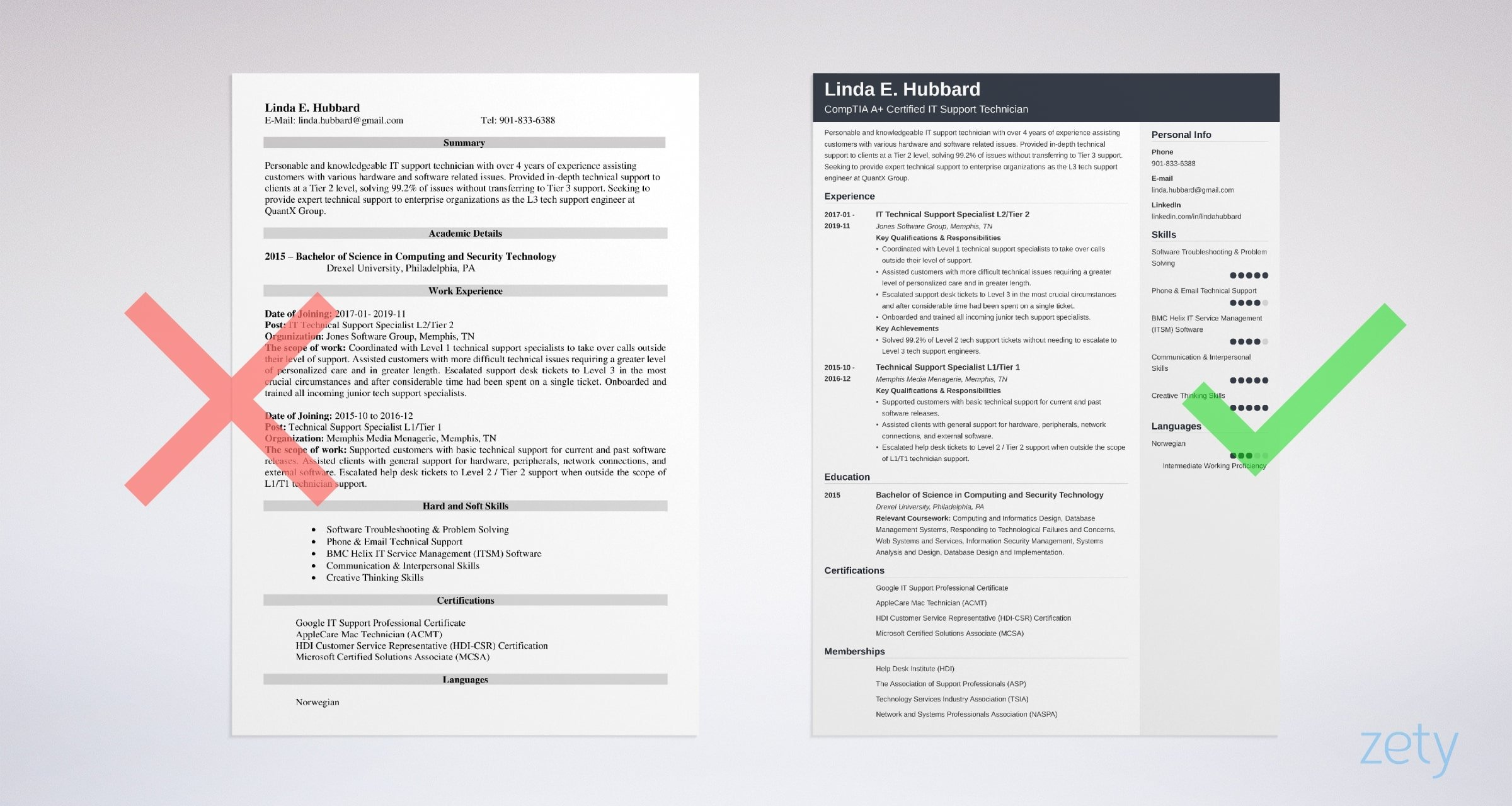 technical support resume templates