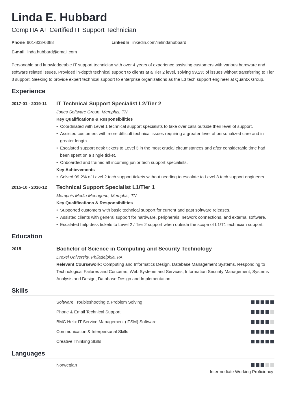 technical support resume example template nanica