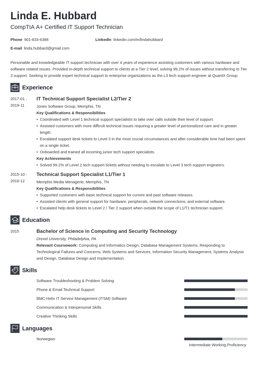 technical support resume example template newcast