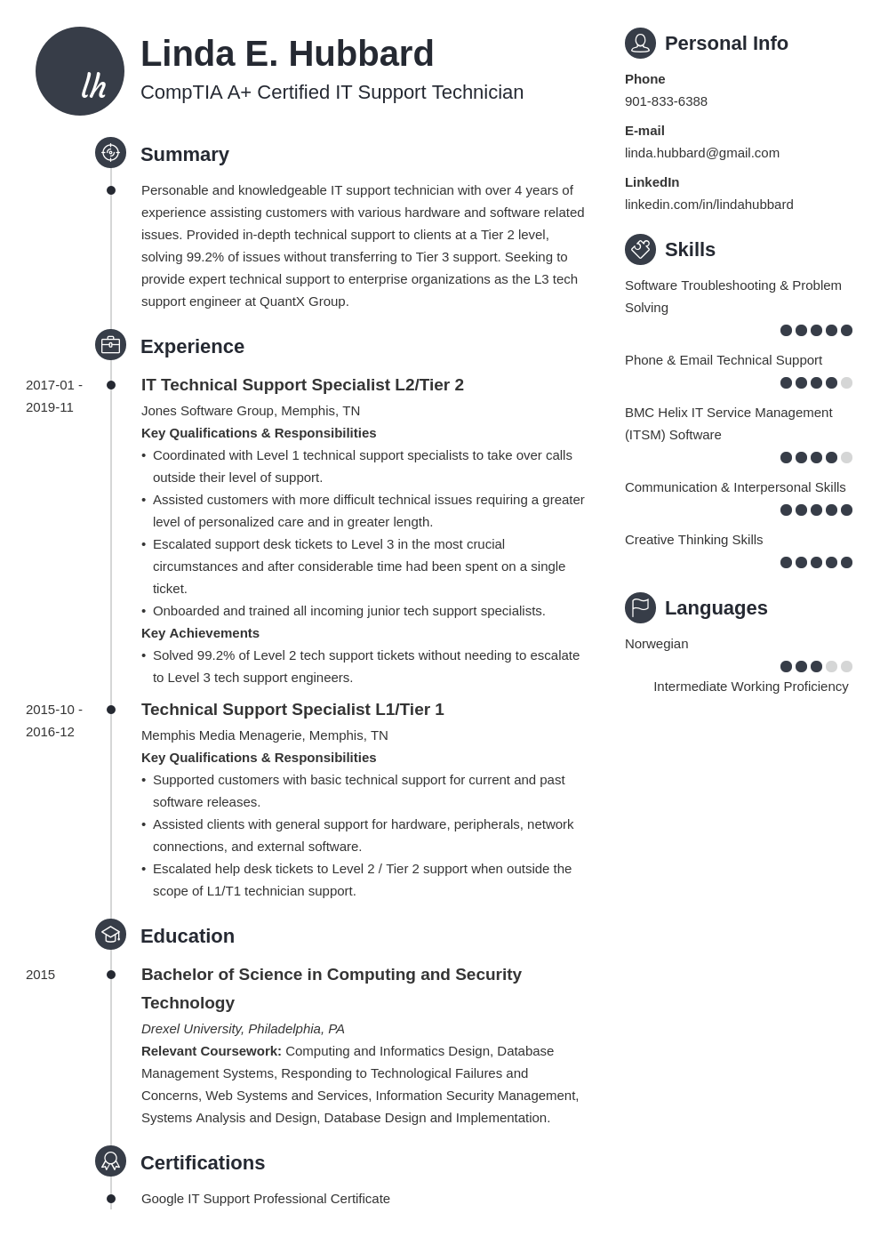 technical support resume example template primo