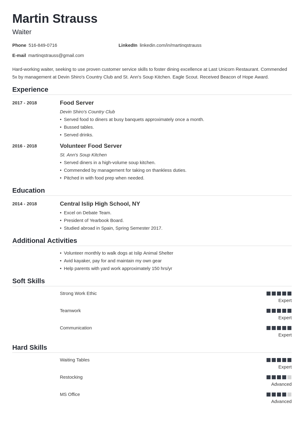 teen resume example template nanica