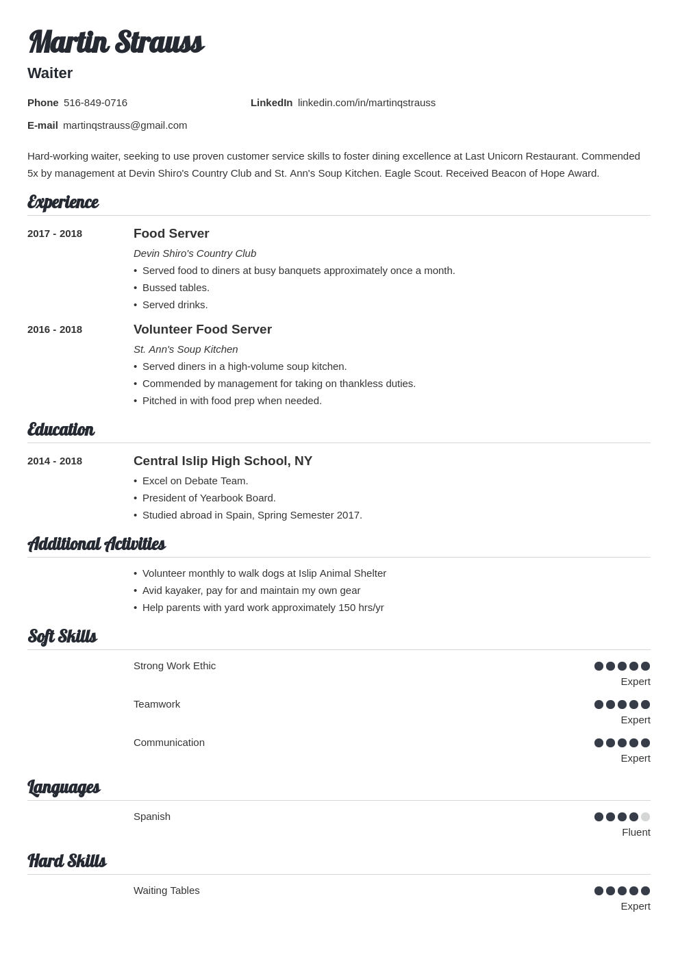 teen resume example template valera