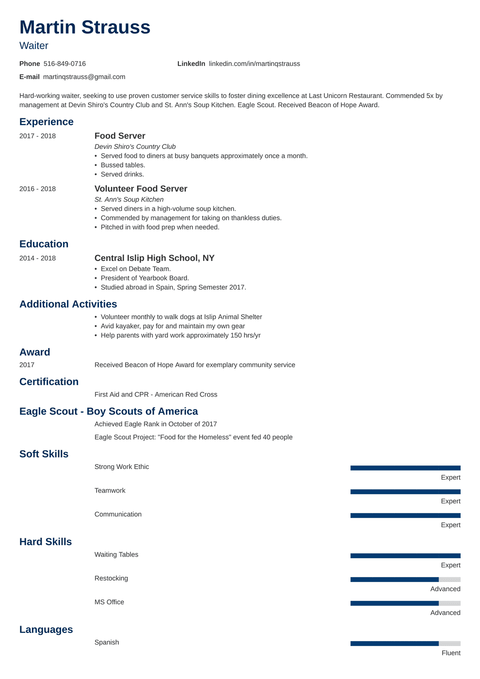 Resume Examples For Teens Templates Builder Writing
