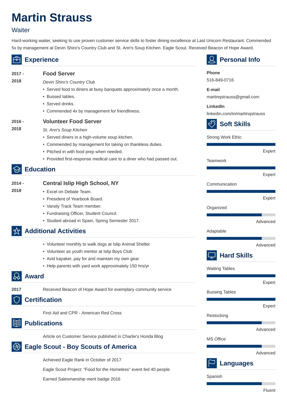 Resume Example For Teens.Resume Examples For Teens Templates Builder Guide Tips