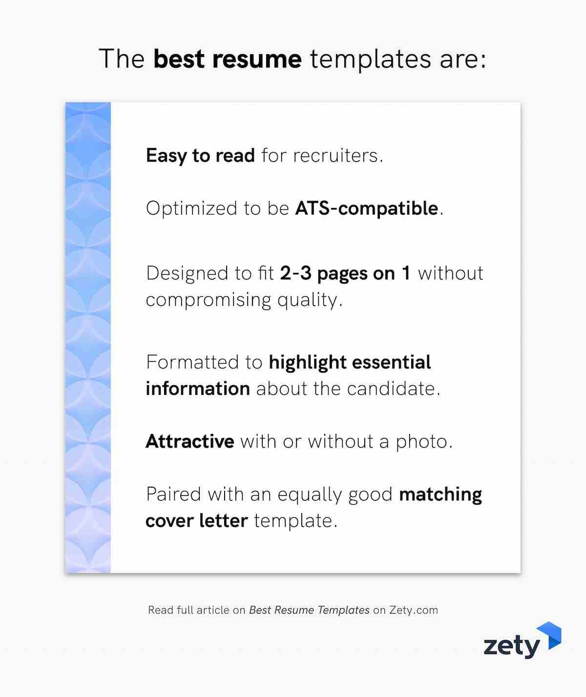 The best resume templates should be
