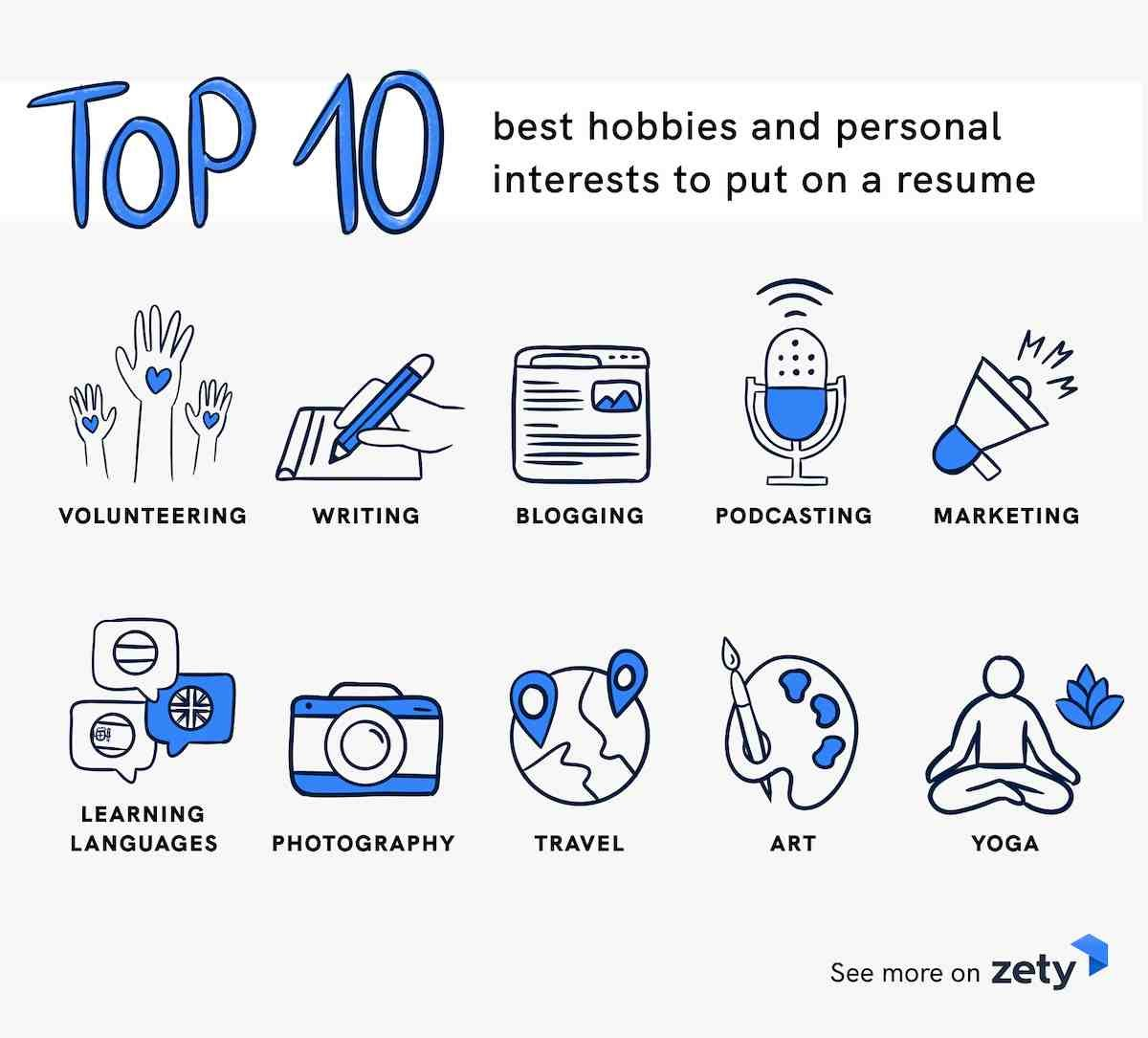 Top 10 best hobbies and personal interests to put on a resume