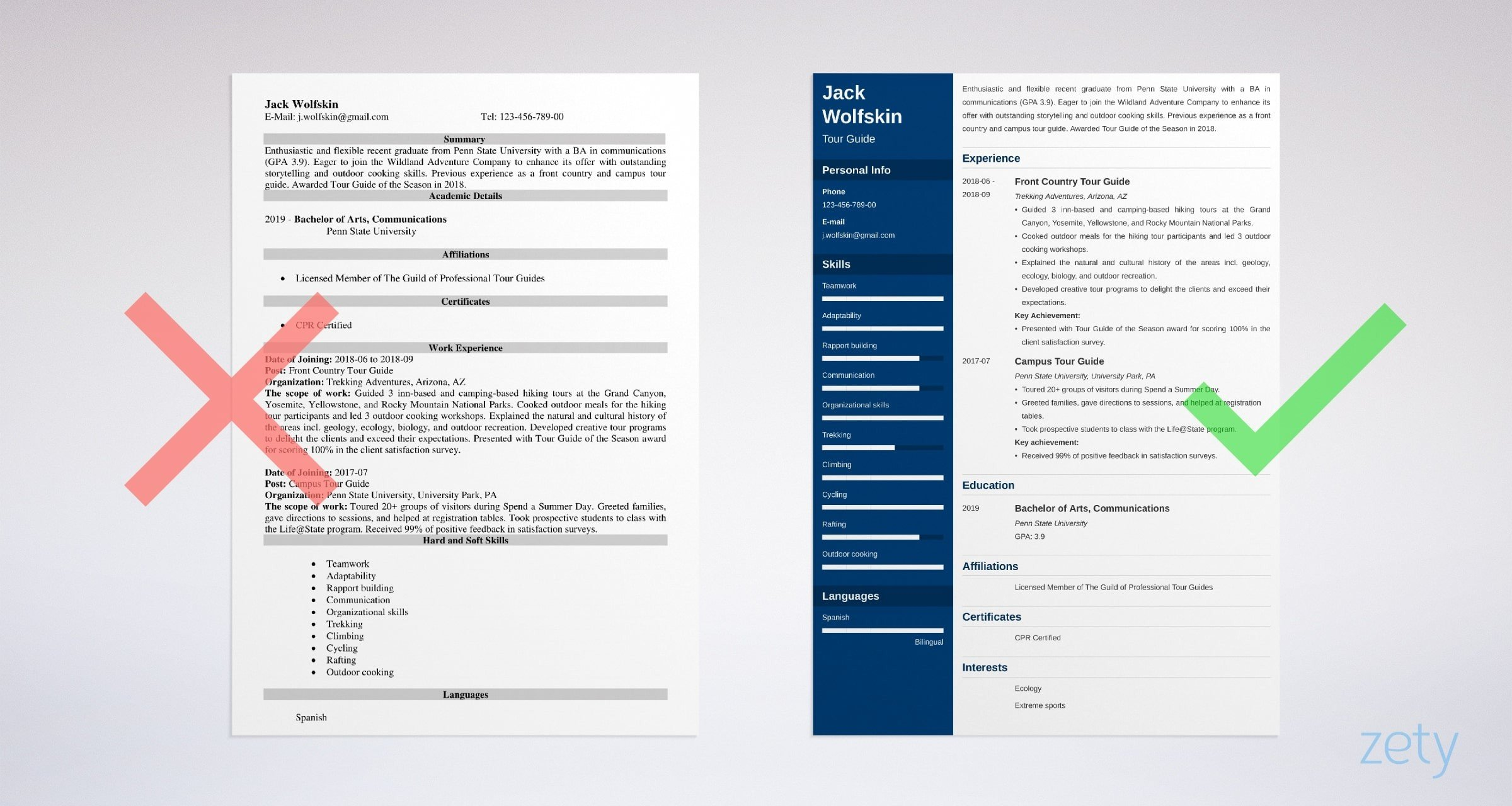 tour guide resume templates