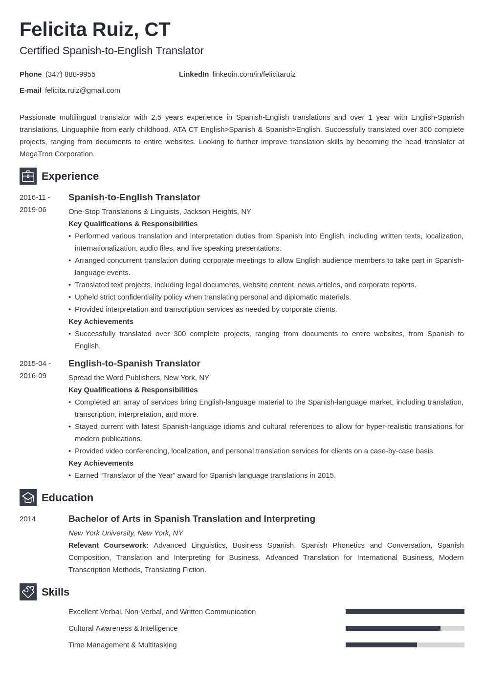 Spanish Cv Template from cdn-images.zety.com