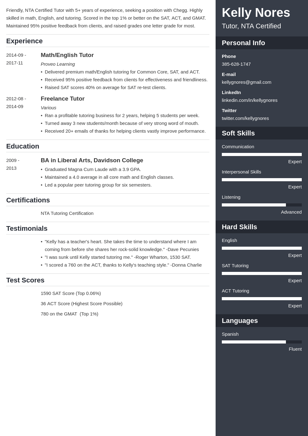 tutor resume example template enfold