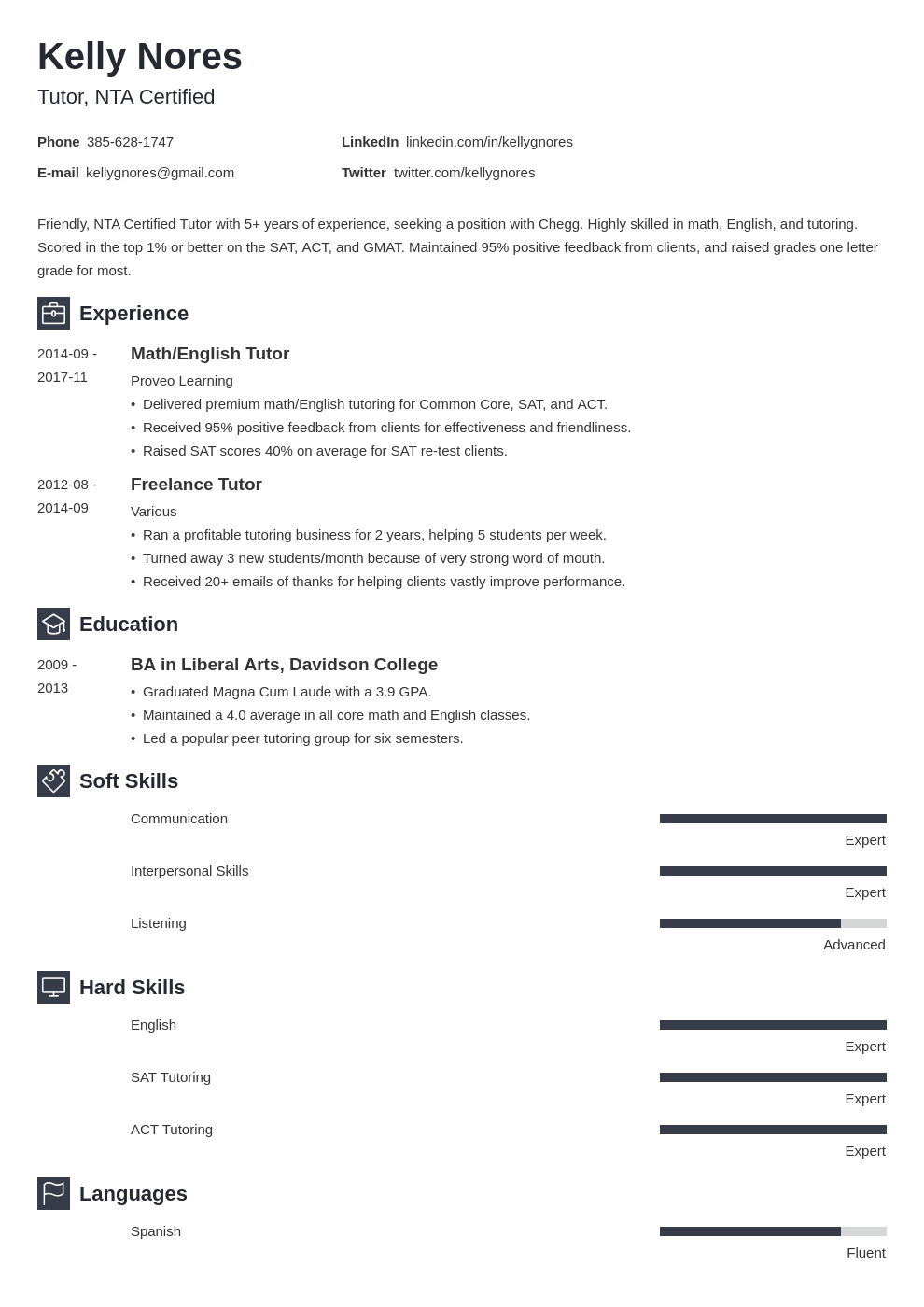 tutor resume example template newcast
