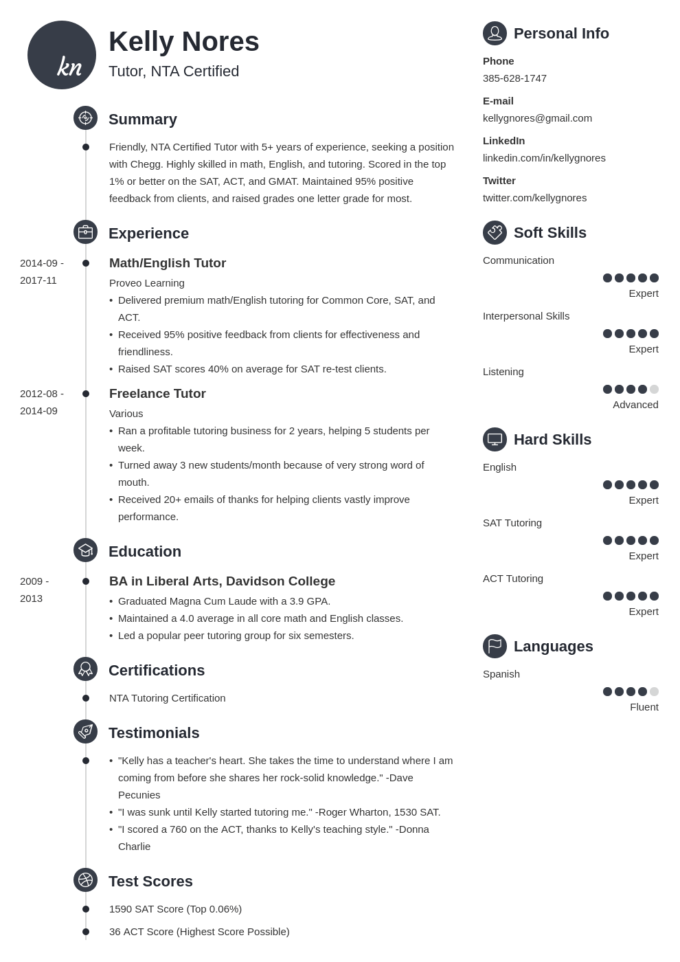 tutor resume example template primo