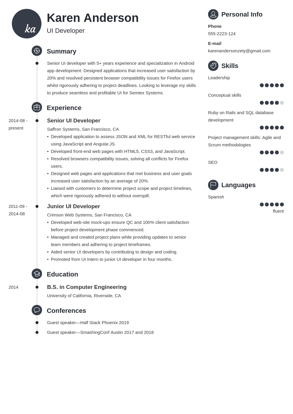 ui developer resume example template primo