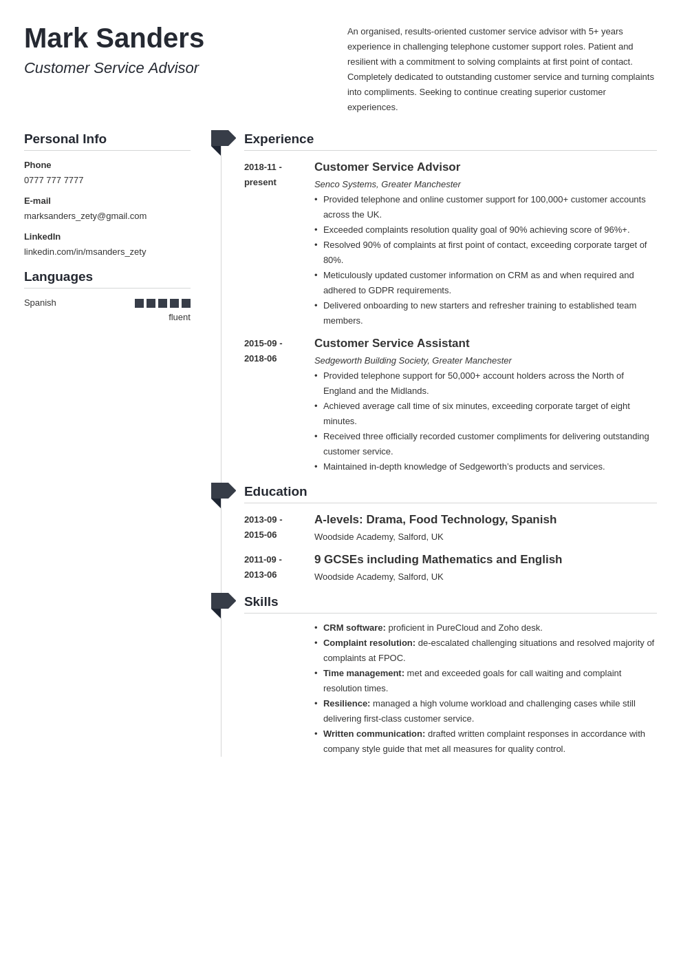 uk customer service cv example template muse
