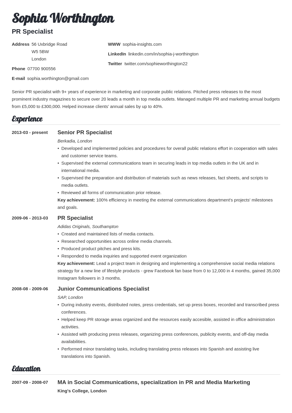 uk skills based cv template valera