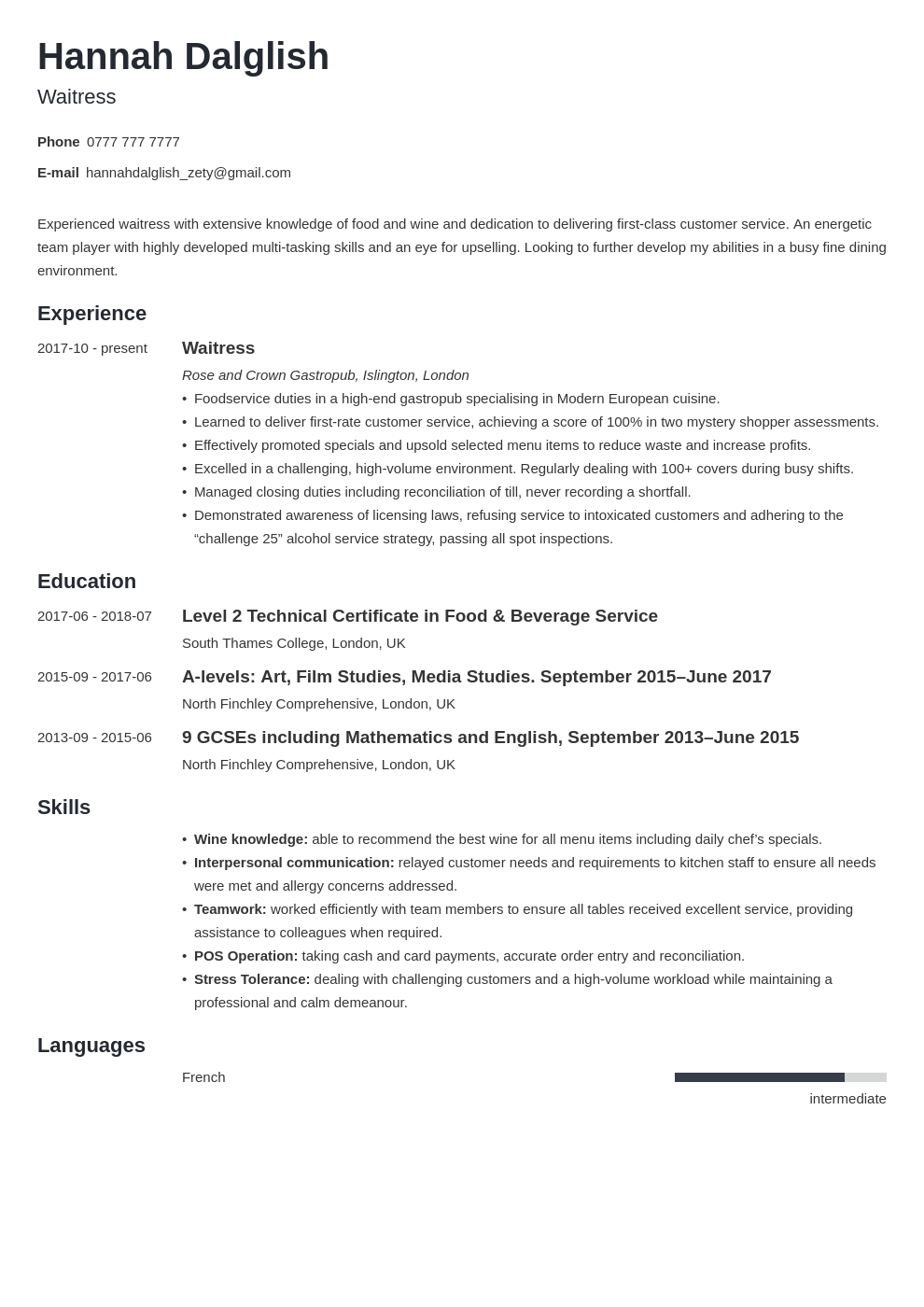 Good Cv Examples For First Job from cdn-images.zety.com