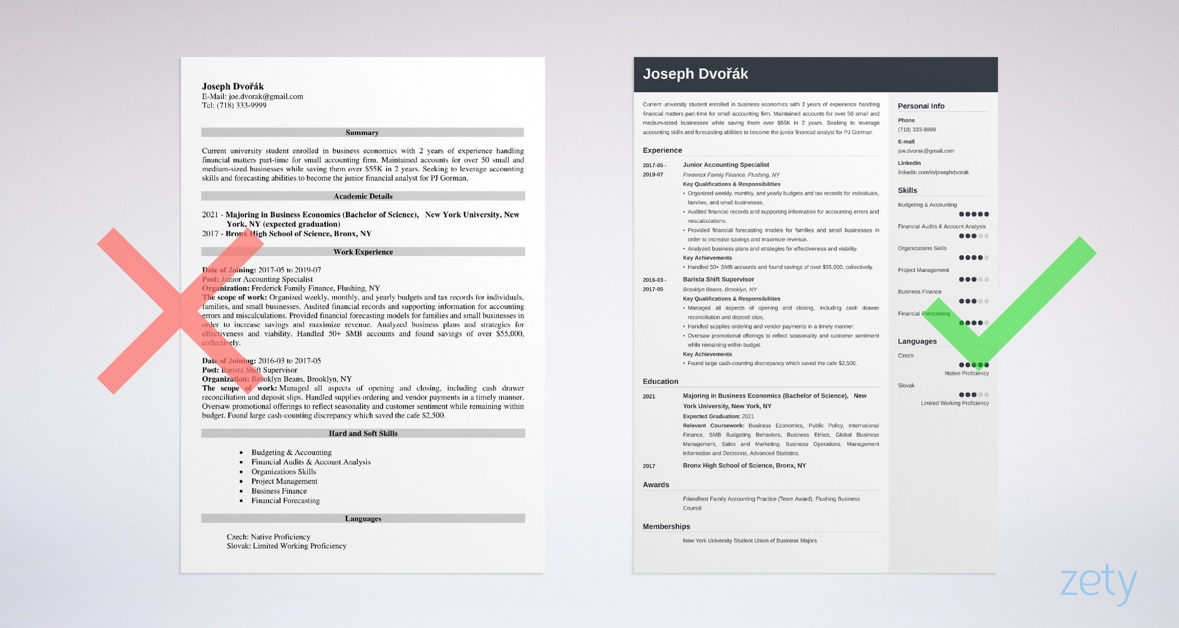 undergraduate resume example  u0026 guide for an undergrad
