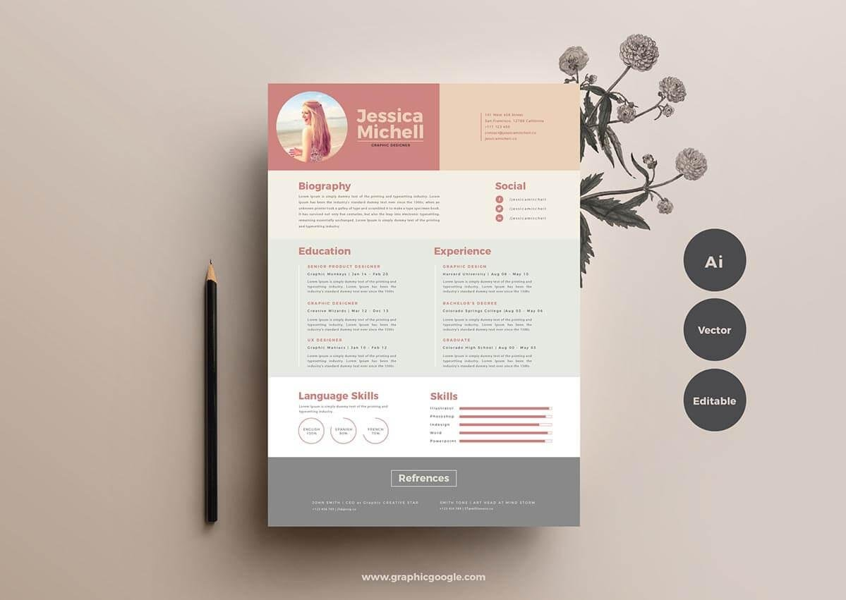 Unique Resume Templates  Downloadable Templates To Use Now