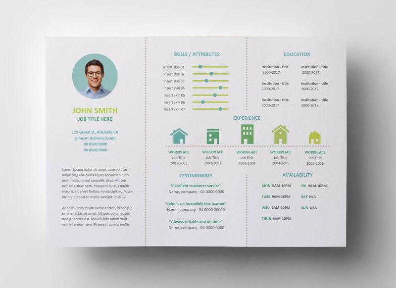 unique resume template with a brochure layout - Unique Resume Templates