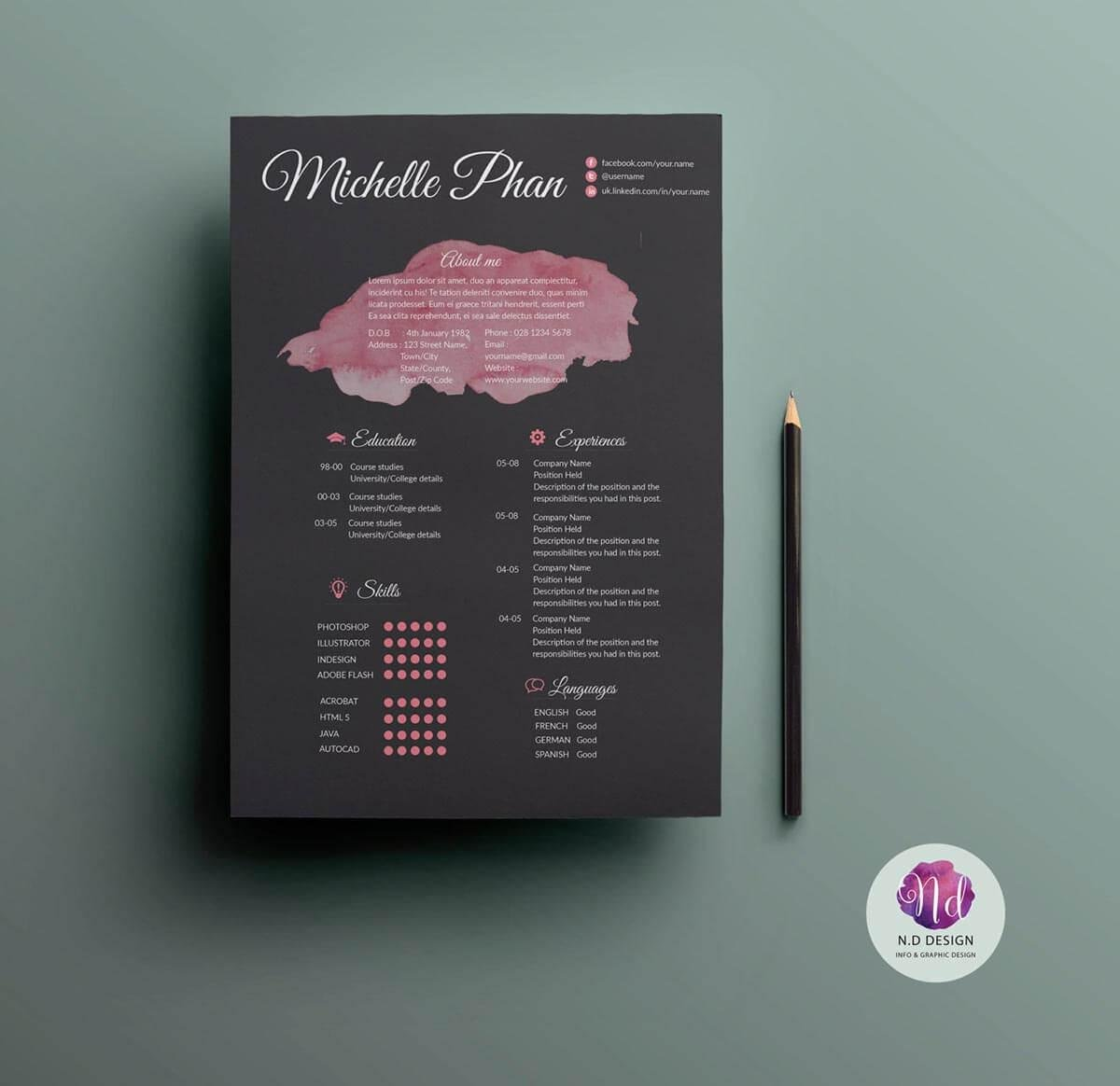 15  unique resume templates to download  u0026 use now