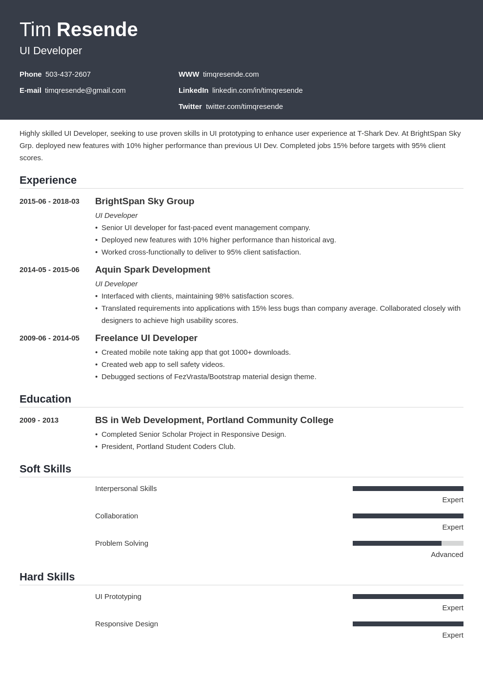 4 Ui Ux Resume Samples Guide With Templates Skills