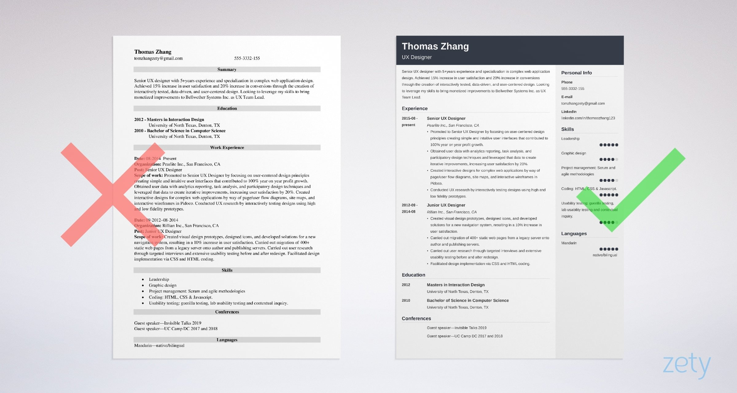 User Experience Ux Designer Resume Sample 2020