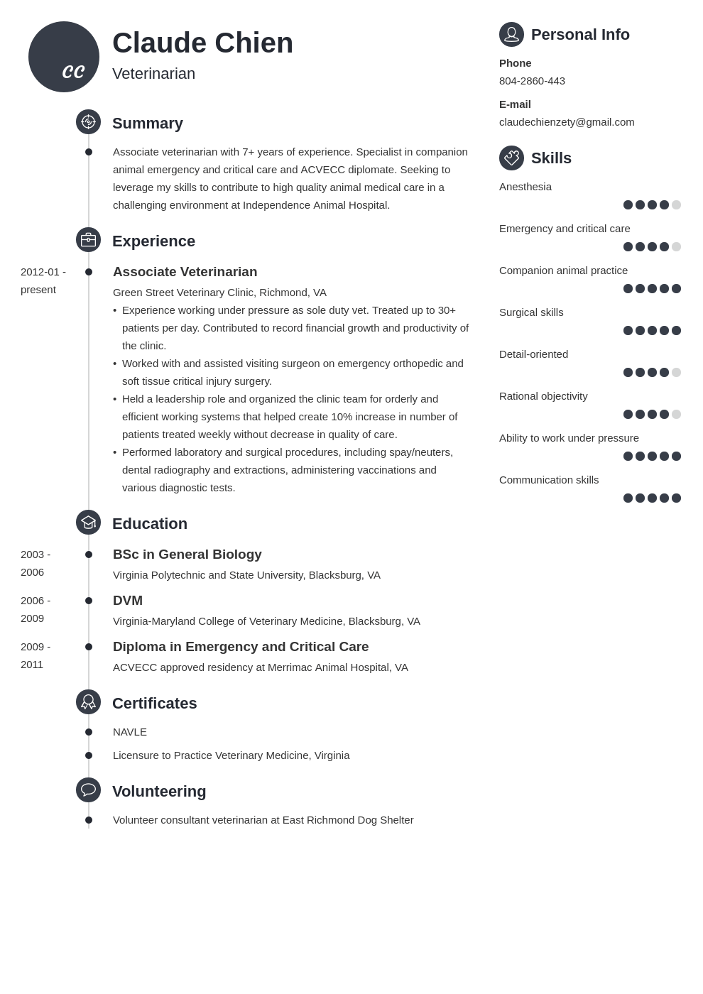 veterinarian resume example template primo
