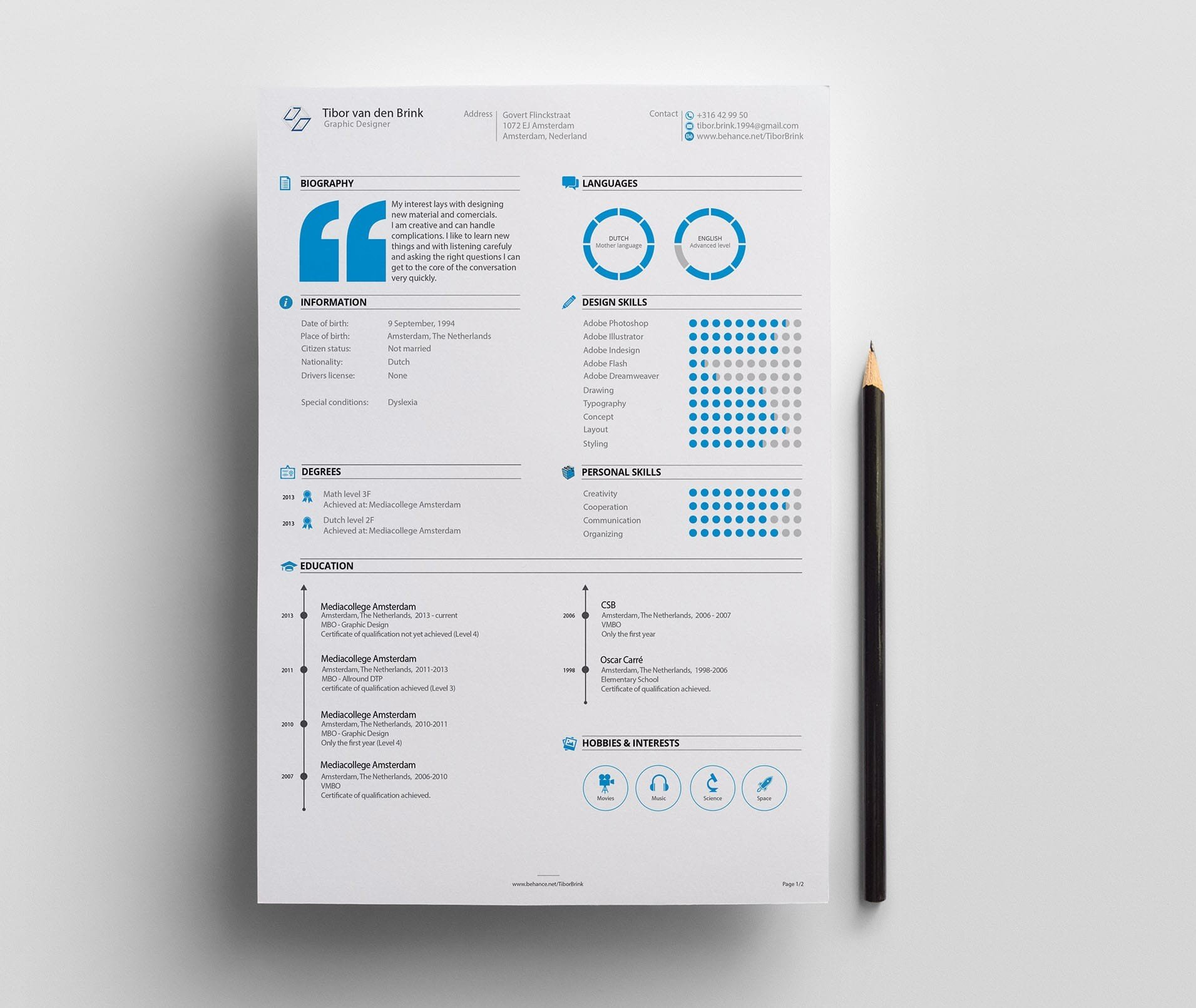 15  visual cv  u0026 resume templates  download for free