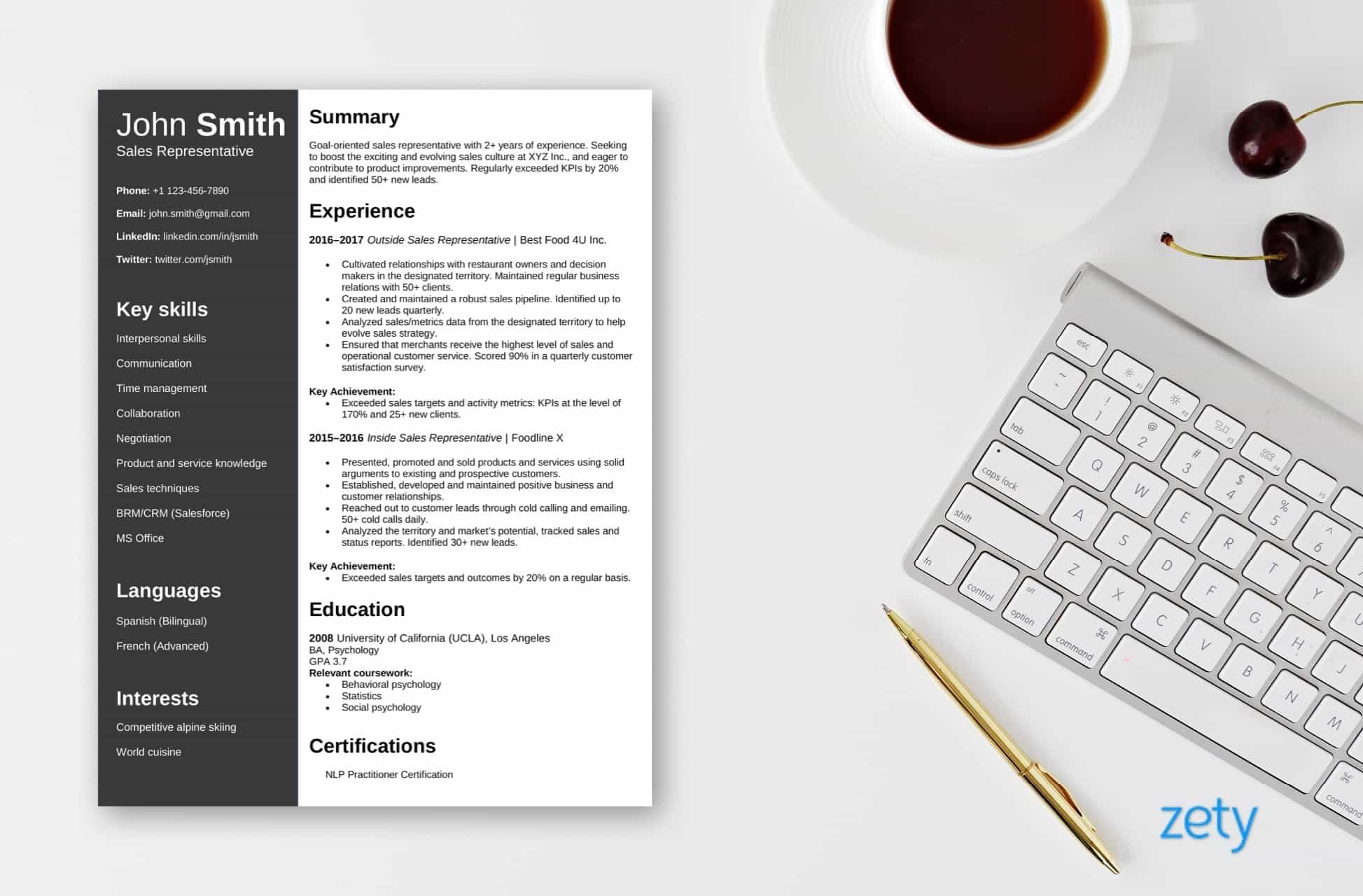 Free Resume Template By Zety