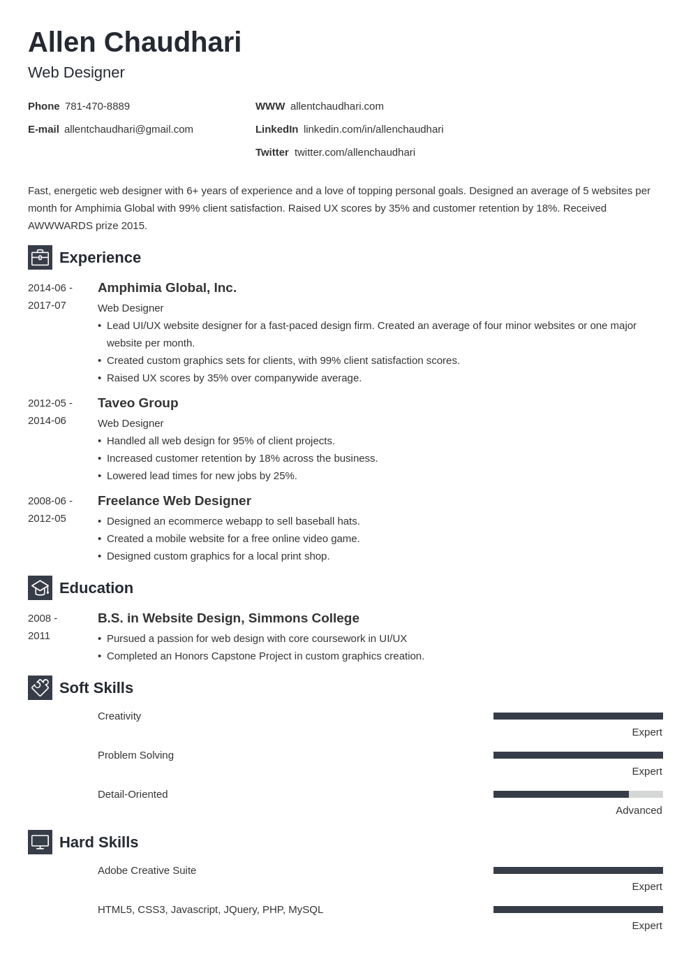 web designer resume example template newcast