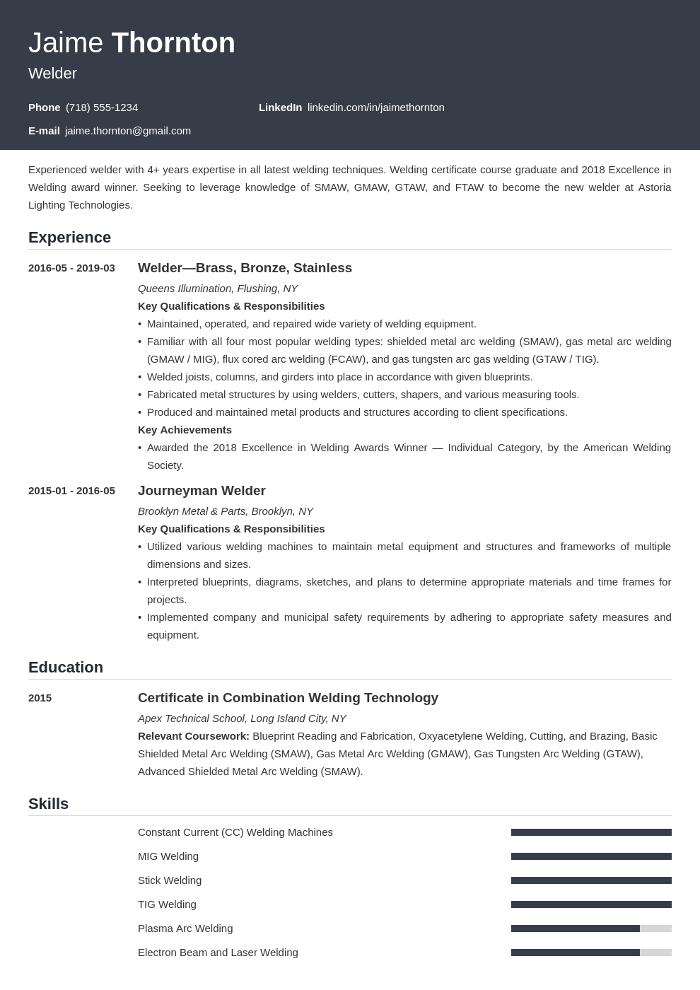 welder resume example template influx
