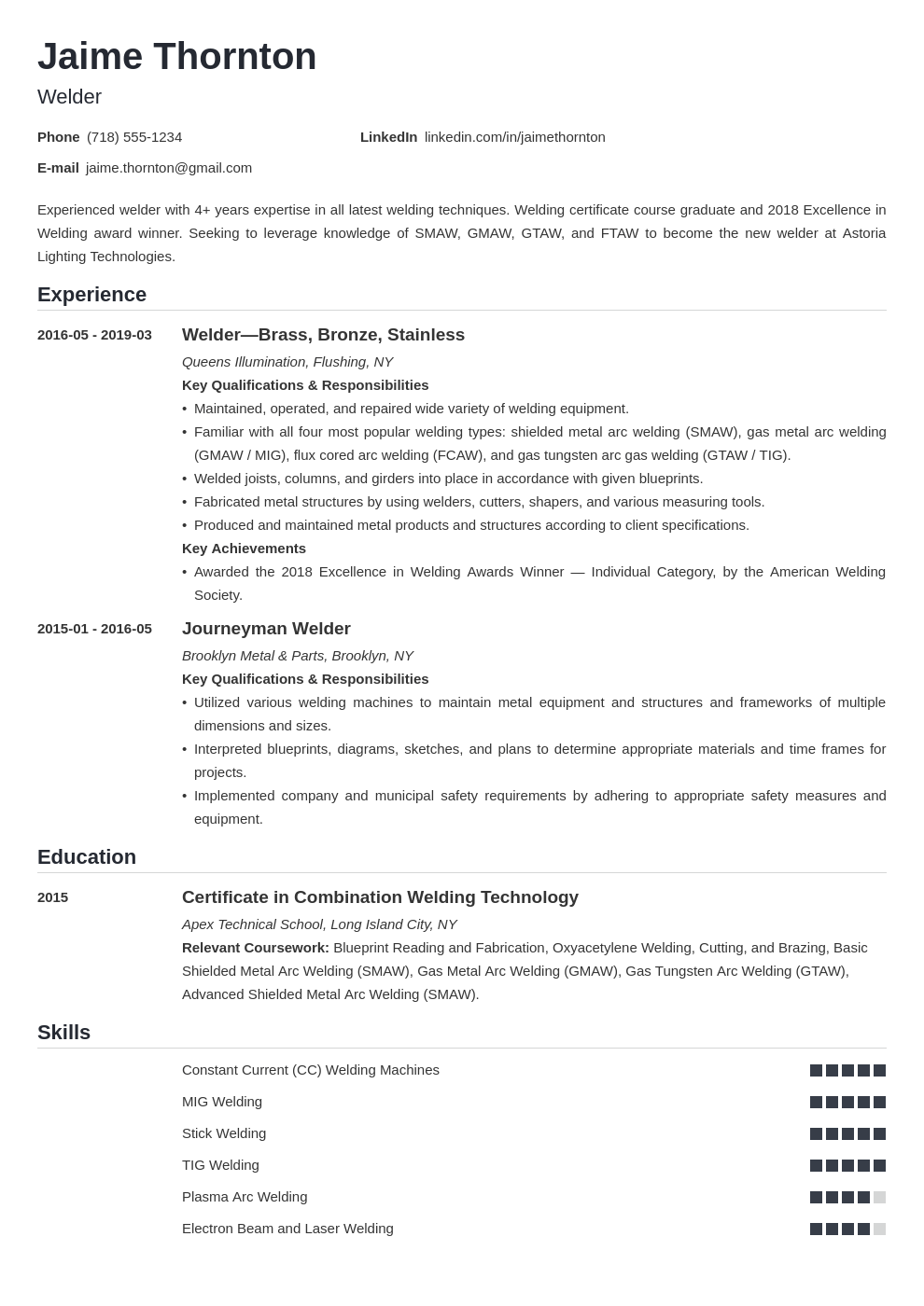 welder resume example template nanica