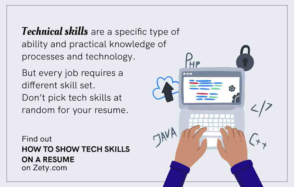 What are technical skills and how to show them