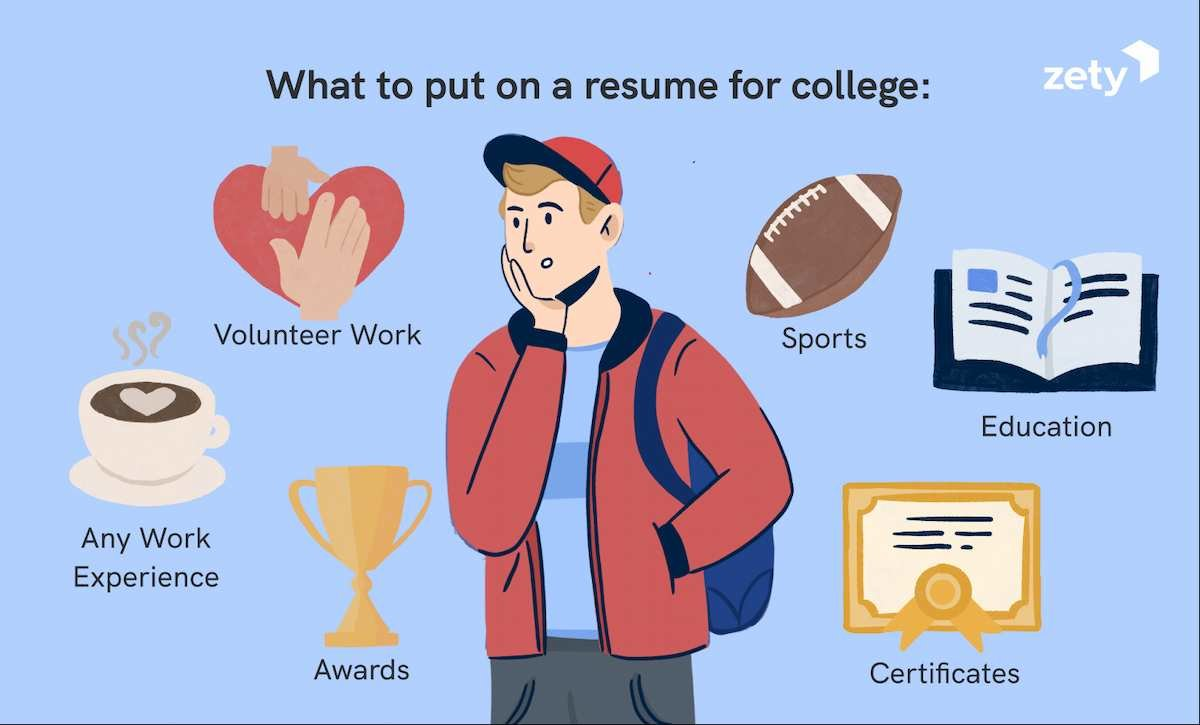 What to put on a resume for college